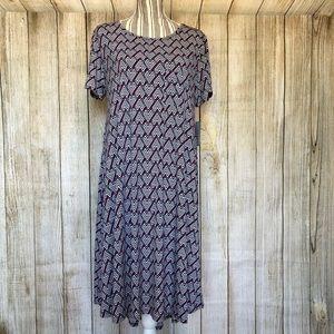 NWT LuLaRoe Large Carly Casual Comfy Dress